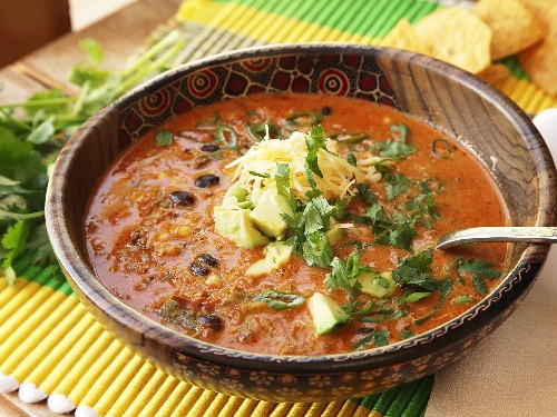 Easy Creamy Chicken Enchilada Soup Recipe