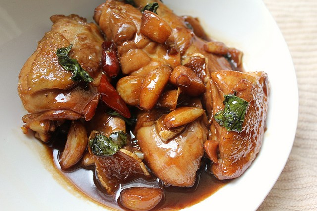 Taiwanese Three Cup Chicken (San Bei Ji) Recipe