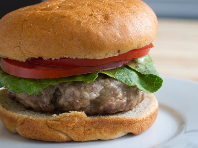 The Ultimate Cheese-Filled Beef and Pork Burger Recipe
