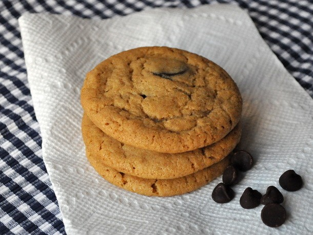 Cookie Monster: Chewy Peanut Butter Chocolate Chip Cookies