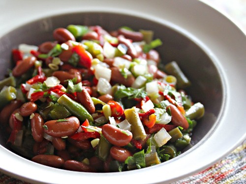 2-Bean Salad With Fire-Roasted Jalapeños and Pickled Red Peppers Recipe