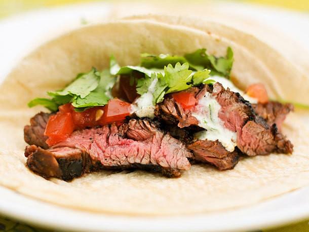 Chili-Spiced Skirt Steak Tacos Recipe