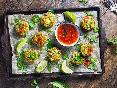 Thai-Style Shrimp Cakes With Sweet Chili Dipping Sauce Recipe