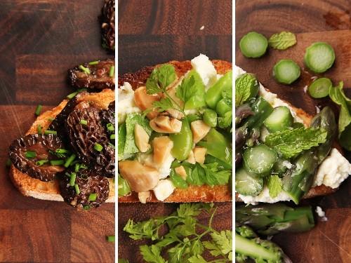 Three Easy Three-Ingredient Spring Tartines