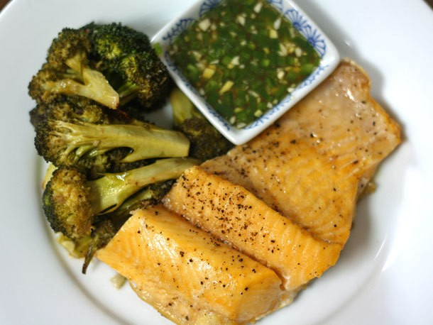 Lake Trout With Nuoc Mam Gung and Broccoli Recipe