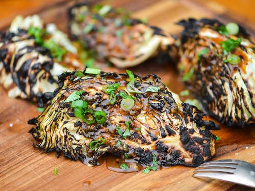 How to Make Grilled Cabbage With Ginger-Miso Dressing