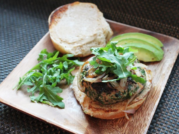 Herb-Filled Turkey Burgers With Cheddar Cheese Recipe