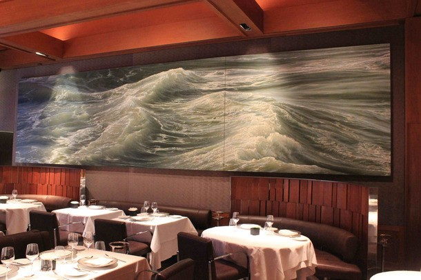 The Story of Le Bernardin's 24-Foot Seascape Painting