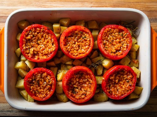 Stuff Your Face With Roman Rice-Stuffed Tomatoes