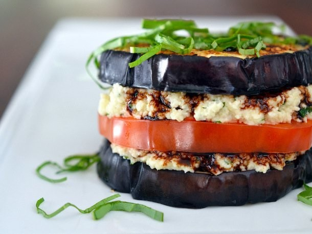 "Eggplant ""Ricotta"" Stacks From 'Nom Nom Paleo'"