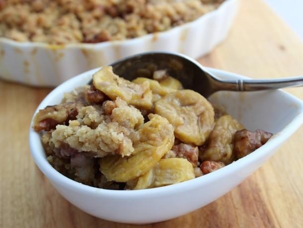 One Bowl Baking: Bourbon Street Banana Crisp