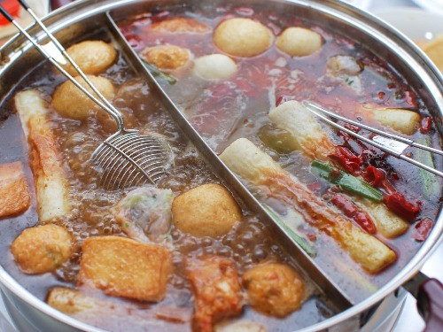Chinese-Style Hot Pot With Rich Broth, Shrimp Balls, and Dipping Sauces Recipe