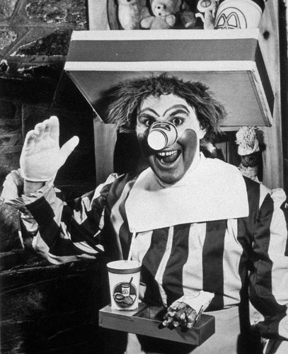 Photo (and Videos) of the Day: 'Scary' Ronald McDonald From 1963