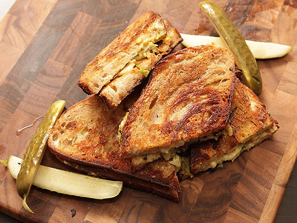 Brussels Sprouts Grilled Cheese Sandwiches