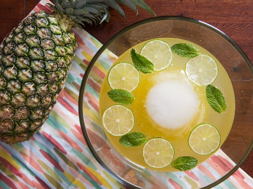 The Isla Bonita: An Elegant Pineapple Punch Fit for a Crowd