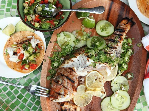 Whole Grilled Fish Tacos Recipe
