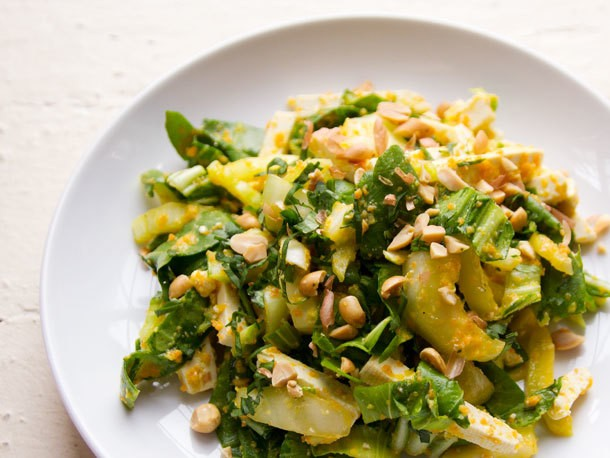 Bok Choy and Tofu Salad with Carrot-Ginger Dressing Recipe