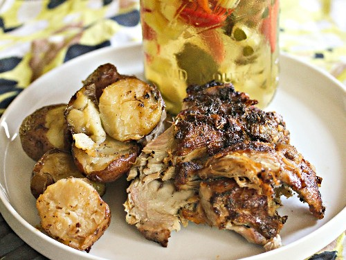 Slow Cooker Puerto Rican Pernil With Pique Criollo