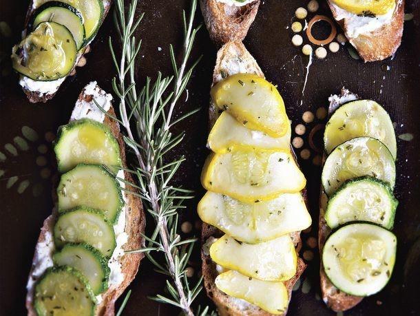 Deborah Madison's Summer Squash Tartines with Rosemary and Lemon
