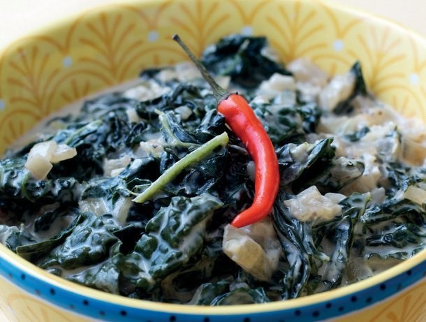 Kale Greens in Coconut Milk from 'The Adobo Road Cookbook'