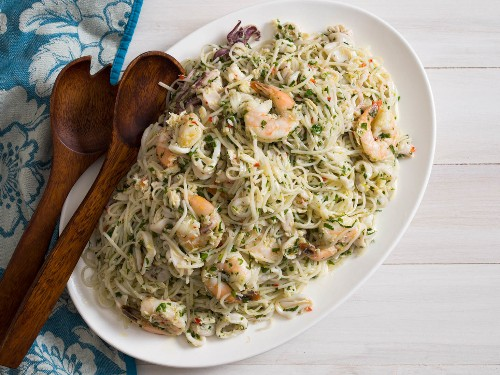 Pair Vietnamese Noodles With Italian Flavors for a Seafood Pasta Salad That Never Ends