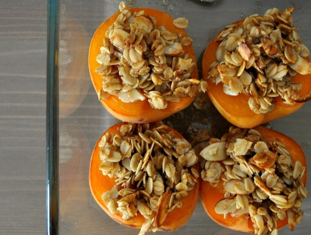 Wake and Bake: Baked Apricots with Brown Sugar Streusel