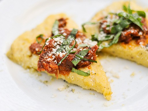 Grilled Polenta With Marinara, Parmesan, and Basil Recipe