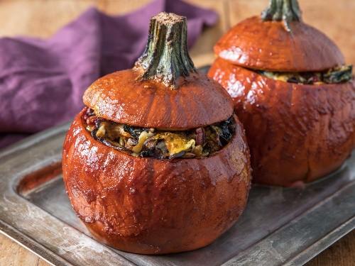 For a Killer Thanksgiving Vegetarian Main Dish, Stuff Your Pumpkins