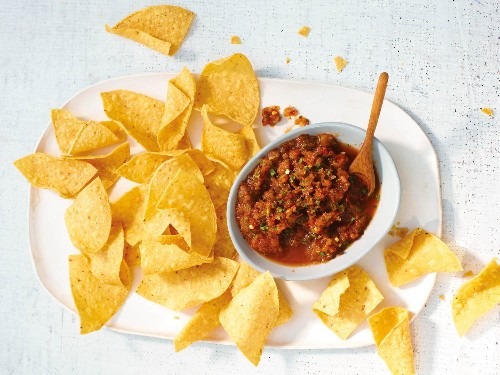 Roasted Tomato-Mint Salsa From 'Tacolicious'