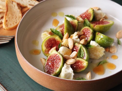 Easiest Summer Ever: Figs, Marcona Almonds, Aged Goat Cheese, and Hot Honey