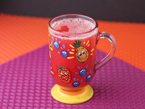 Simple Pink Pineapple Juice Recipe