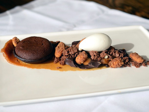 Colicchio and Sons's Warm Chocolate Tart Brings the Chocolate and the Crunch