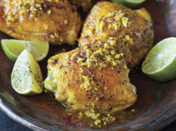 Turmeric Chicken with Sumac and Lime from 'The New Persian Kitchen'