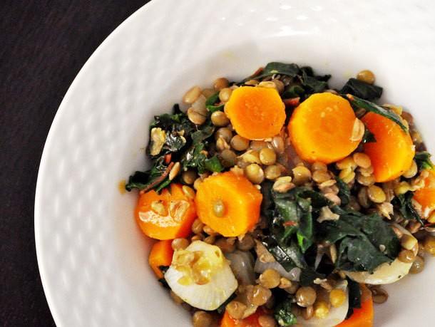 Lentil and Carrot Salad with Kale Recipe