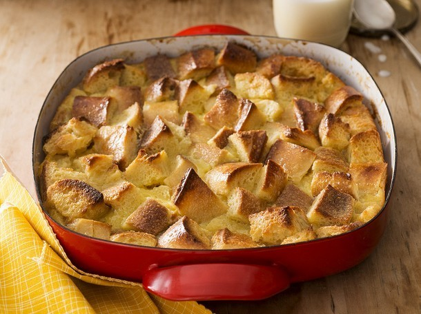 Bake the Book: White Chocolate Bread Pudding