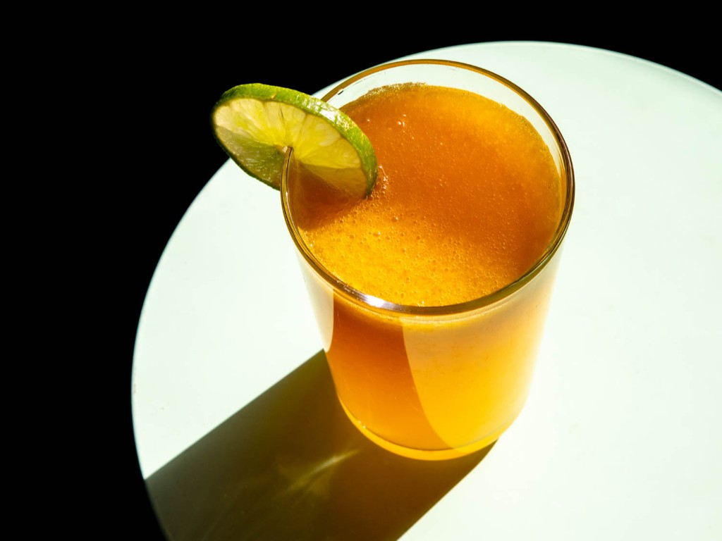 Mango Shandy With Chile, Ginger, and Lime Recipe