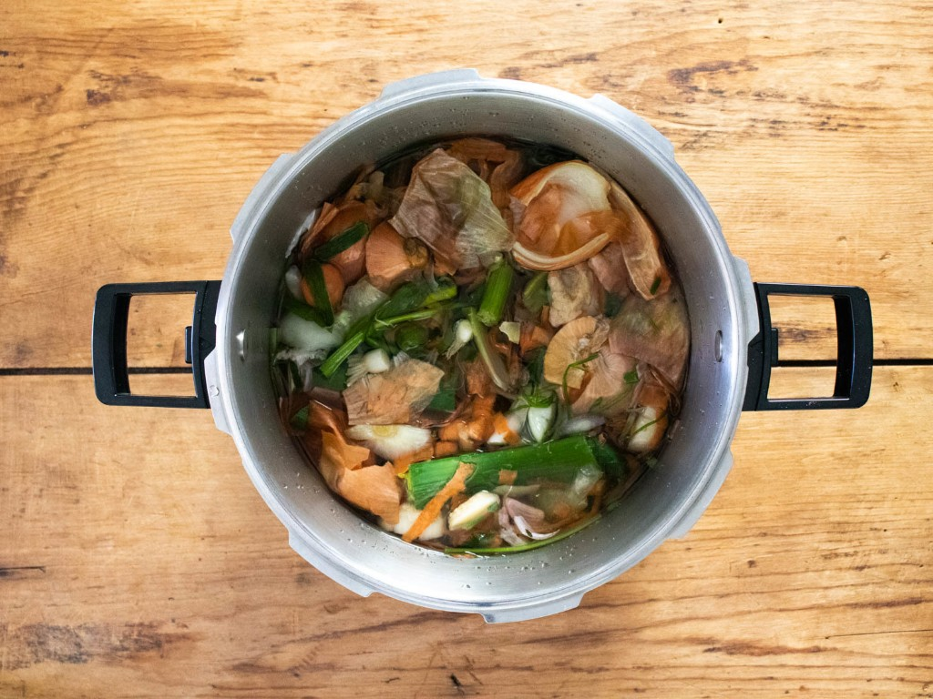 Save Your Vegetable Scraps, Make Stock