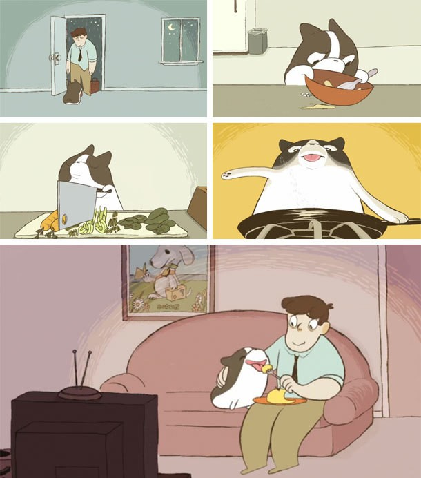 Video: A Dog Makes Food For Someone He Loves in the Animated Short 'Omelette'
