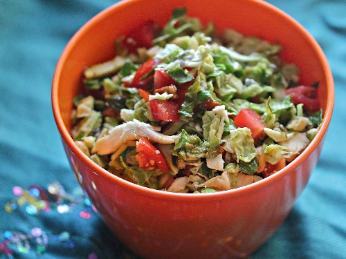 Cobb Salad-Inspired Brussels Sprouts With Lemon Vinaigrette Recipe