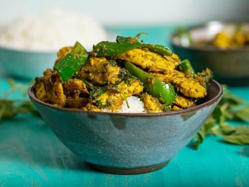 Cambodian Lemongrass Chicken Stir-Fry (Cha Kreung Satch Moan) Recipe