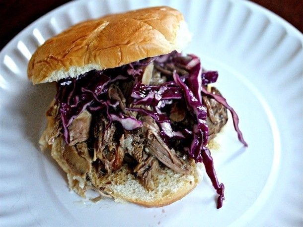 Slow-Cooker Kalua Pork Sandwiches With Crispy Asian Slaw Recipe
