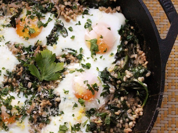 One-Pot Wonders: Barley With Kale and Eggs