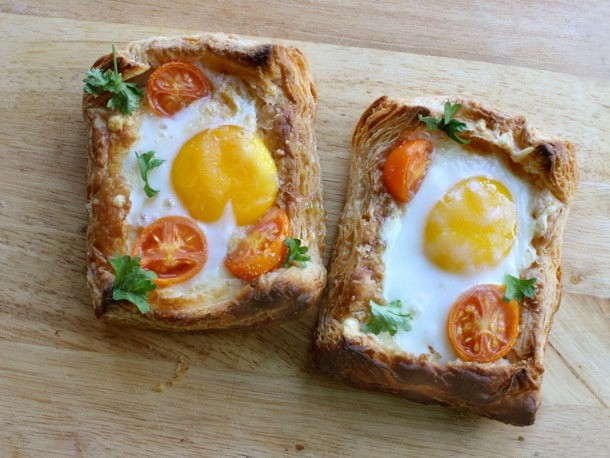 Puff Pastry Breakfast Egg Tarts Recipe