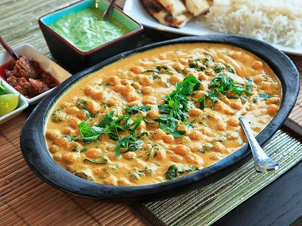 Chickpea, Coconut, and Cashew Curry Recipe