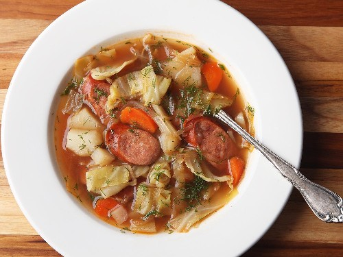 Polish Potato, Kielbasa, and Cabbage Soup (Kapusniak) Recipe