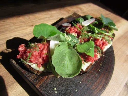 Eat this Now: Beef Tartare on Koji Toast at Bar Tartine in San Francisco