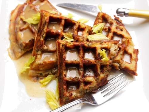 In Which We Make Stuffing Waffles
