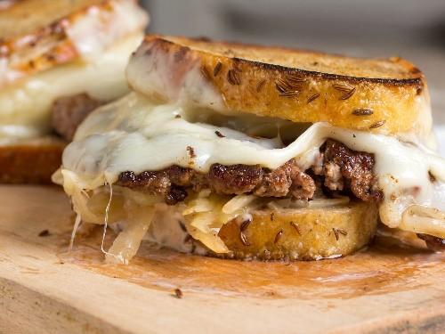 Smashed Reuben Burgers Recipe