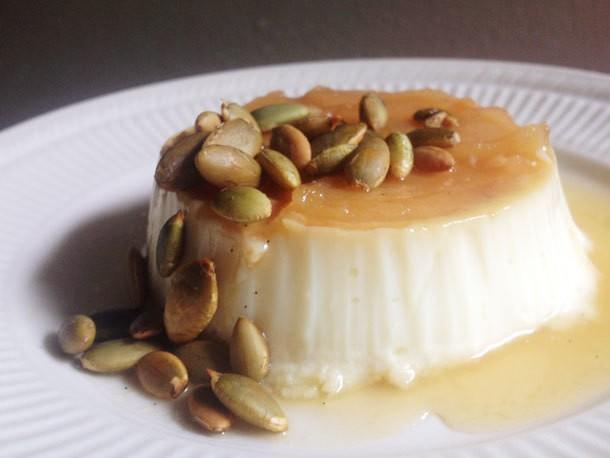 Caramel Apple Flan with Toasted Pepitas Recipe