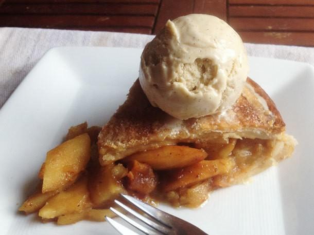 Superlative Apple Pie with Homemade Vanilla Ice Cream Recipe